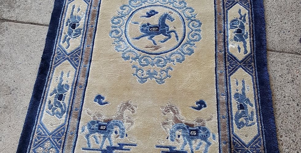 Blue and White 'Horse' Rug