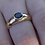 Thumbnail: Unisex 18 ^ gold and natural sapphire ring