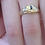 Thumbnail: 18 ct gold  sapphire and diamond ring