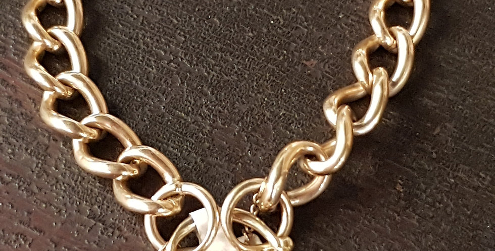 Gold Bracelet With Heart Lock