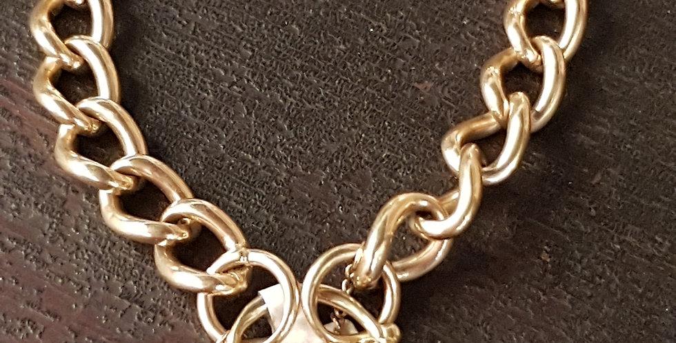 Gold Bracelet With Heart Lock