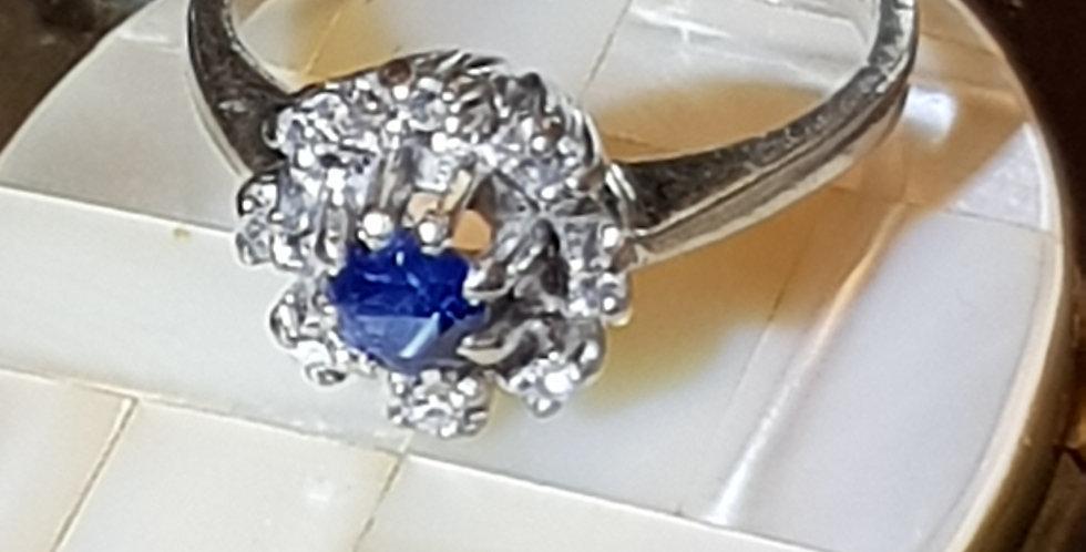 Sapphire and Diamonds Ring