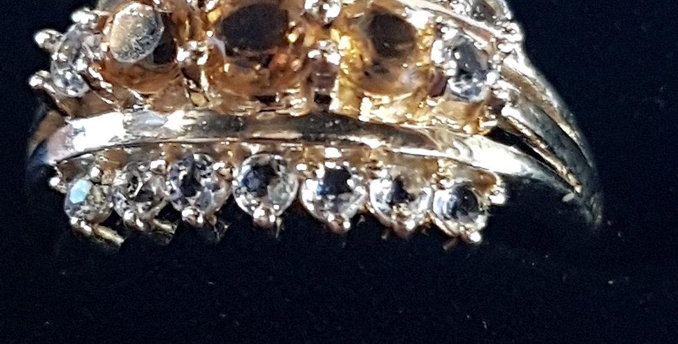 Citrine and Diamonds Ring