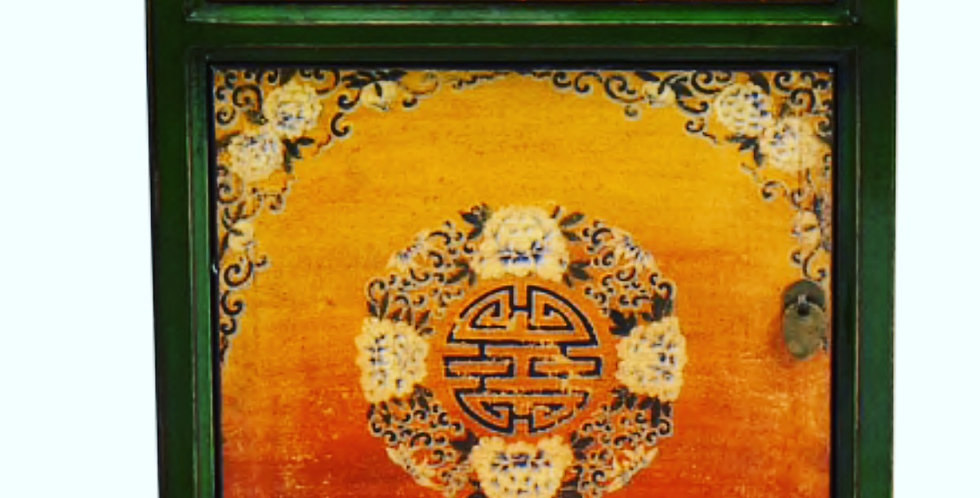 Chinese hand painted bed side