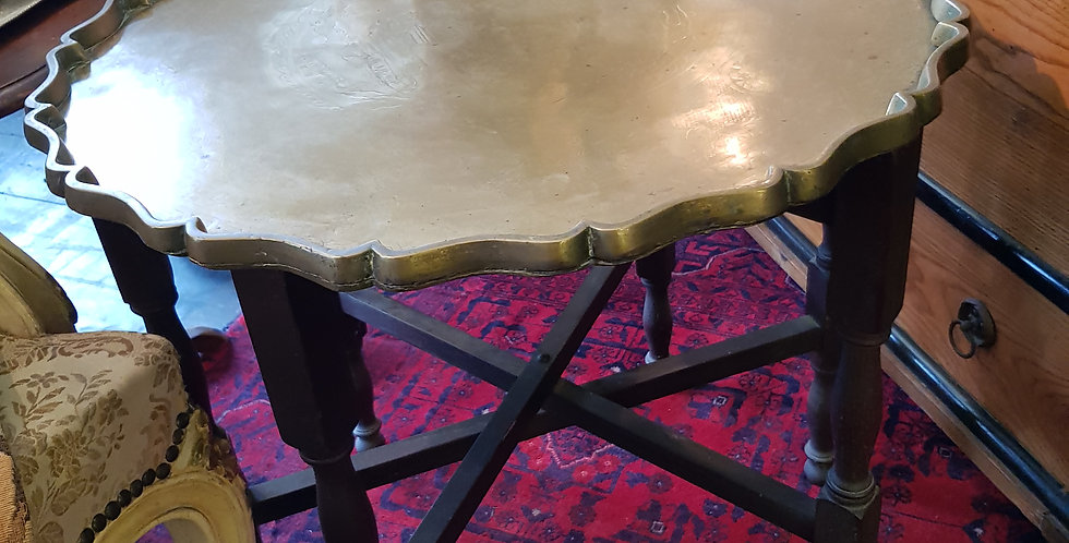 Oriental Brass Top Table