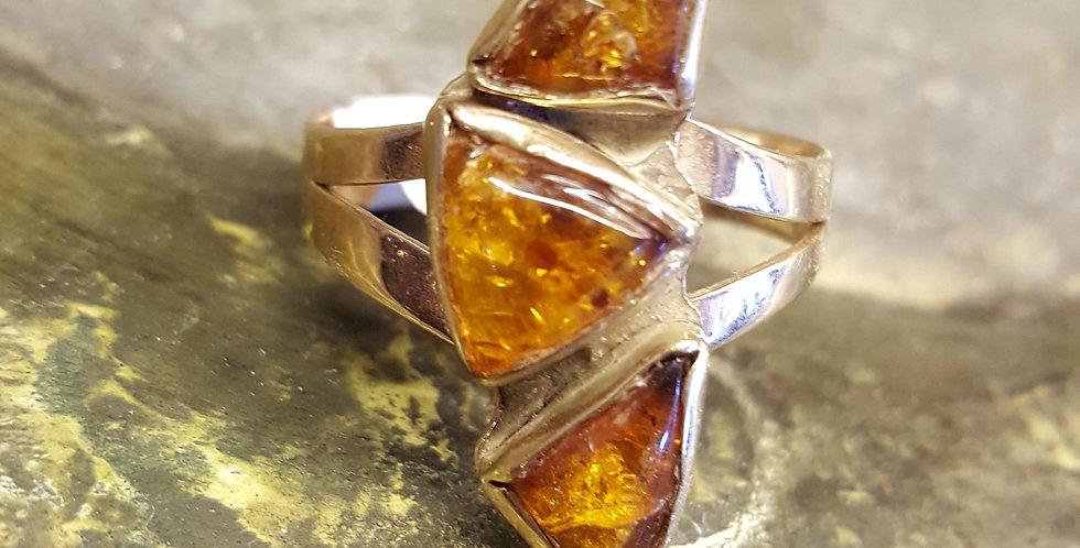 Vintage Amber Ring