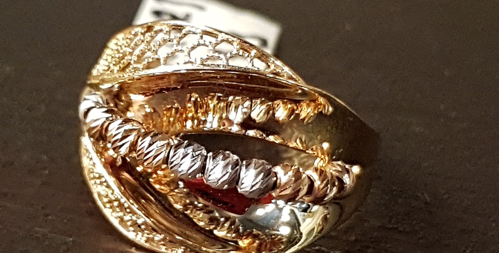 18 ctGold Ring with White Gold and Rose Gold