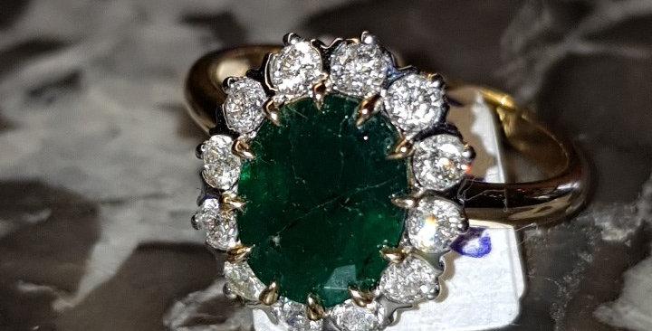 Emerald and Diamonds Ring