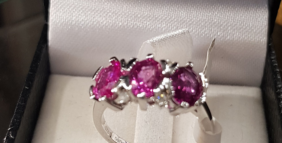 Diamonds and Natural Pink Sapphires
