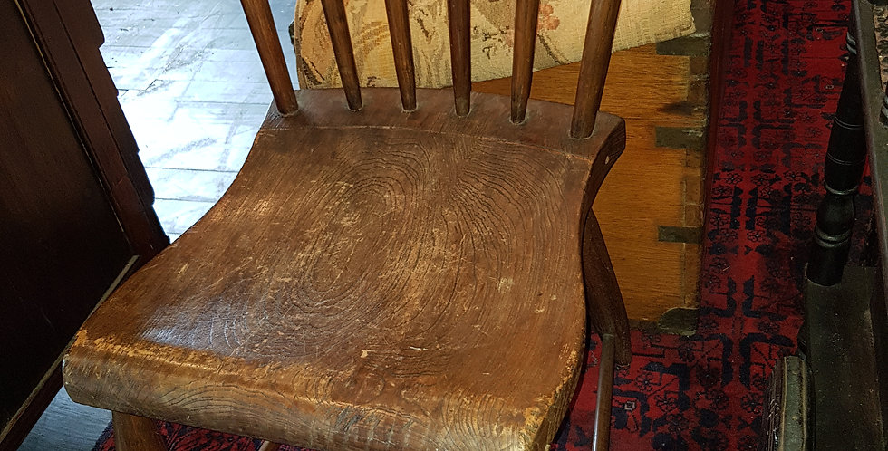Pair of Antique Vietnamese Elm Chairs