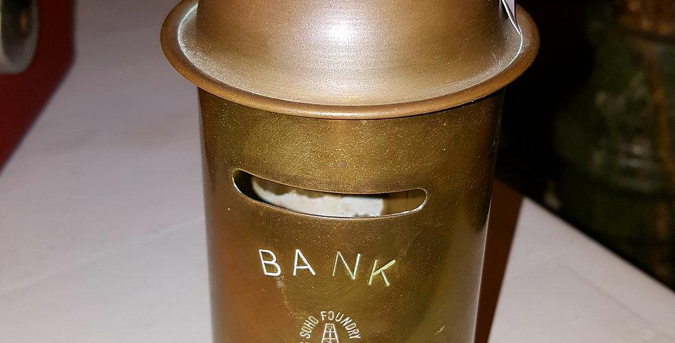 Vintage Brass Money Box