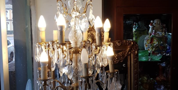 French chandelier lamp