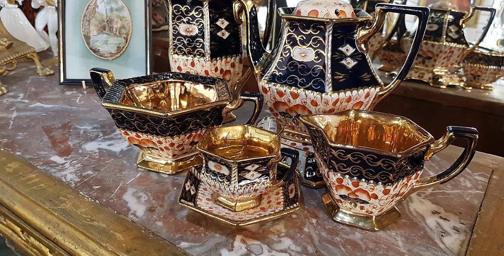 Victorian Stoneware Imari Tea Set