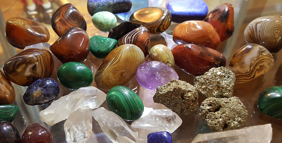 Assorted Crystal Touch Stones
