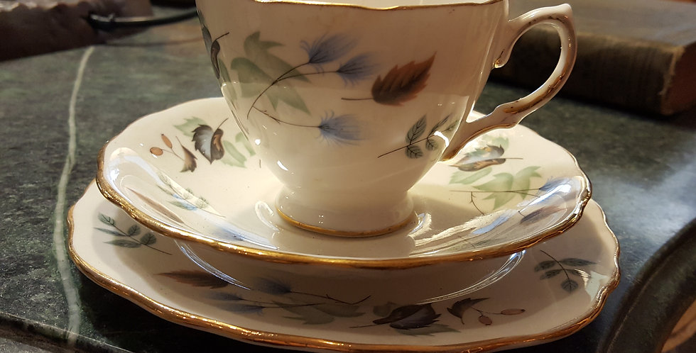 Pretty White & Blue Teacup Trio