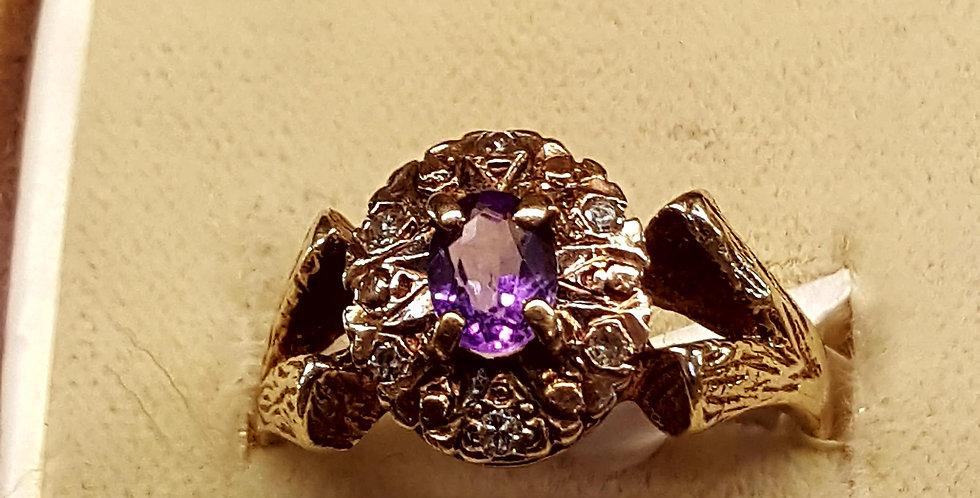 Antique Amythest and Diamonds