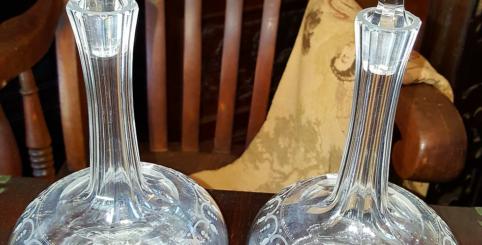 Pair of Victorian Crystal Decanters