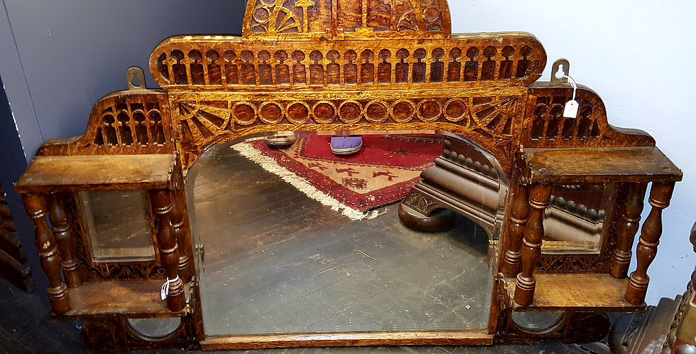 Carved Antique Mirror