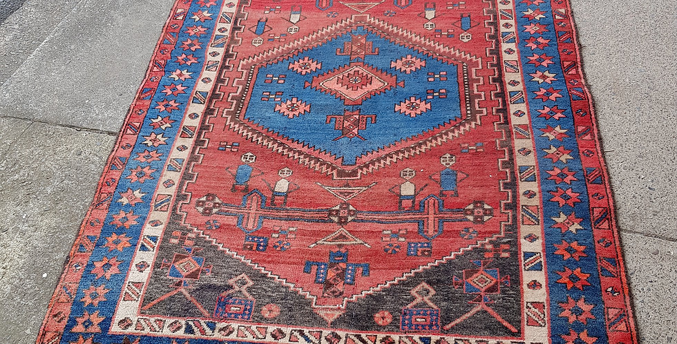 Antique Hand Knotted Wool Rug