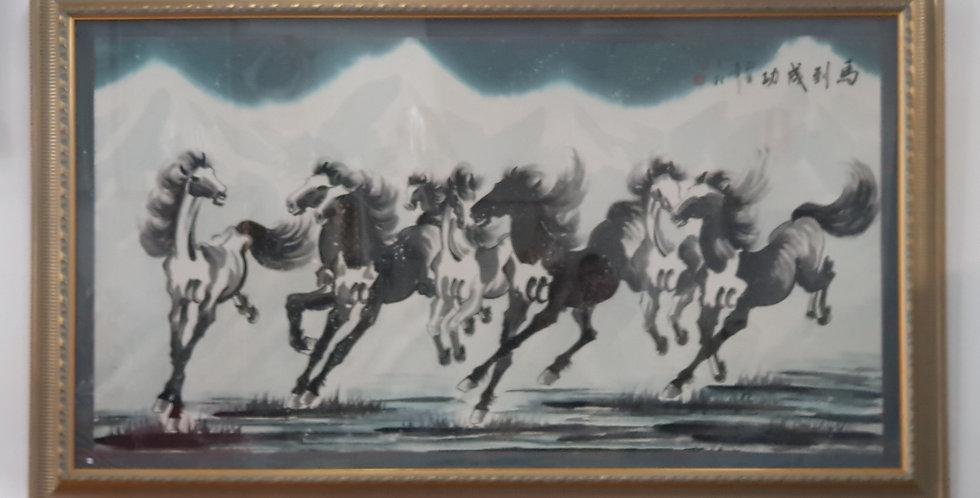 """""""Eight Running Horses"""" Painting"""