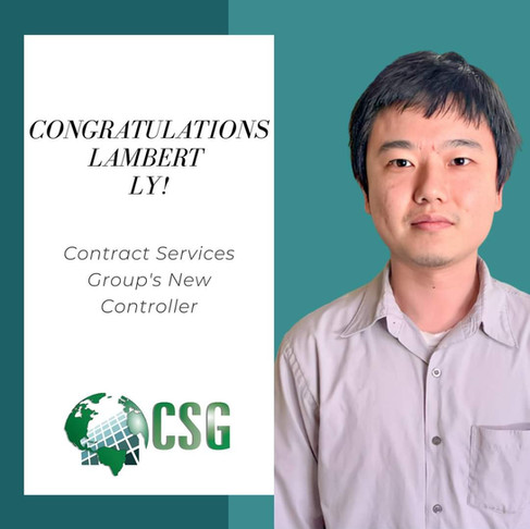 Congratulations To Our New Controller