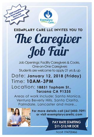 Exemplary Care LLC invites you to The Caregiver Job Fair!