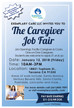 Exemplary Care LLC invites you to The Caregiver Job Fair!