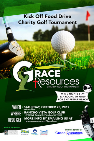 Grace Resources Kick Off Food Drive Charity Golf Tournament