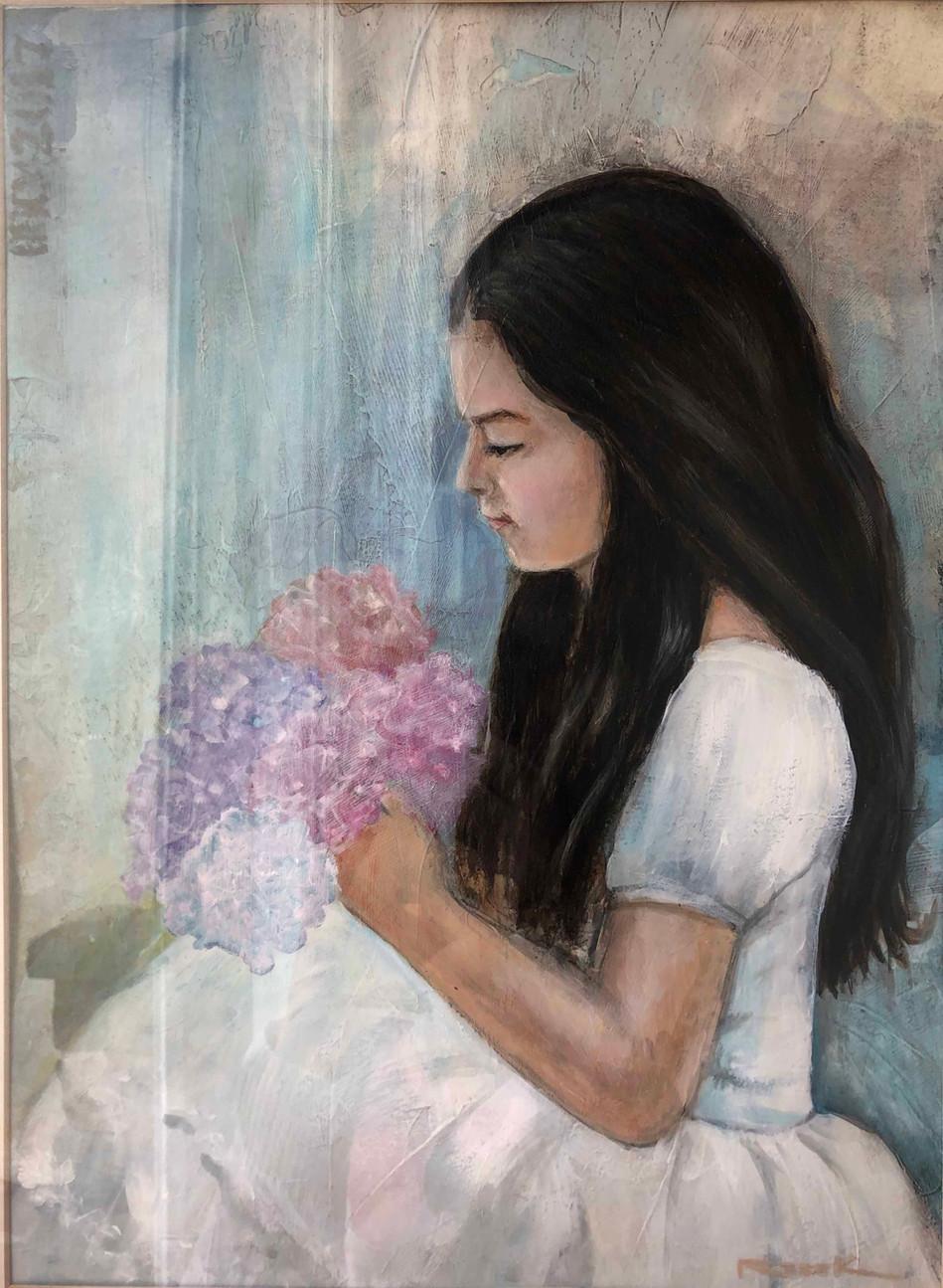 NIÑA CON FLORES / GIRL WITH FLOWERS