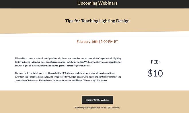 SETC Lighting Panel