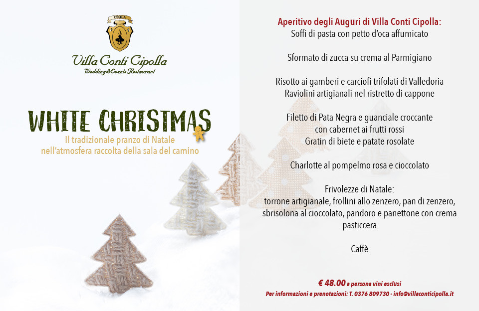 White Christmas a Villa Conti Cipolla