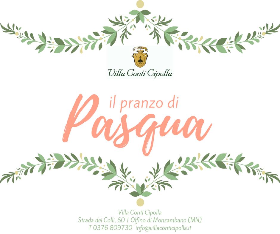 Menu pasqua 2018 Villa Conti Cipolla