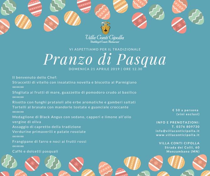 Il pranzo di Pasqua 2019 nelle sale di Villa Conti Cipolla