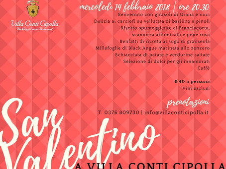 San Valentino 2018 a Villa Conti Cipolla