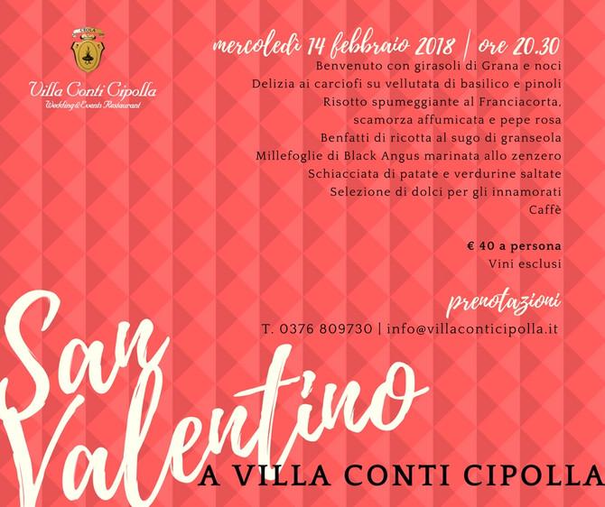 San Valentino: tutto il romanticismo di Villa Conti Cipolla con i sapori della nostra cucina