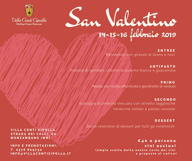 San Valentino 2019 nelle sale di Villa Conti Cipolla