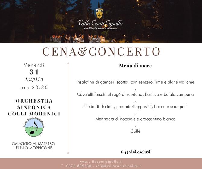 Cena&Concerto: Omaggio a Morricone