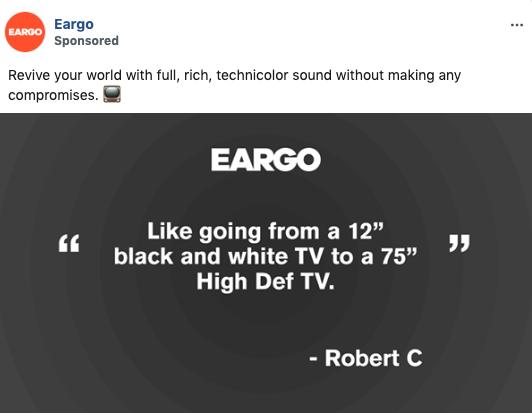 Eargo Testimonial Static Image Ad