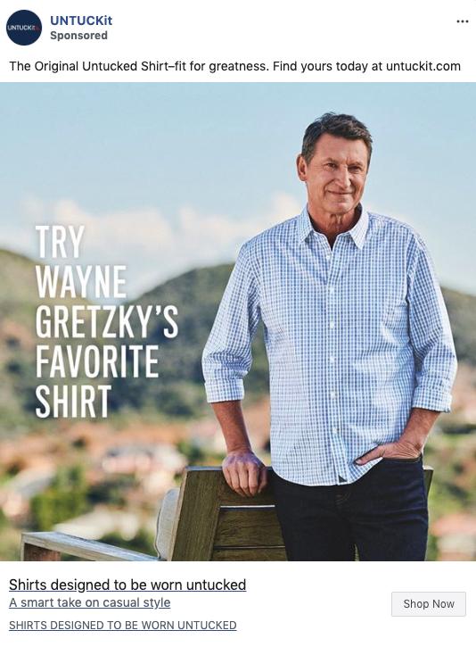 UNTUCKit x Wayne Gretzky