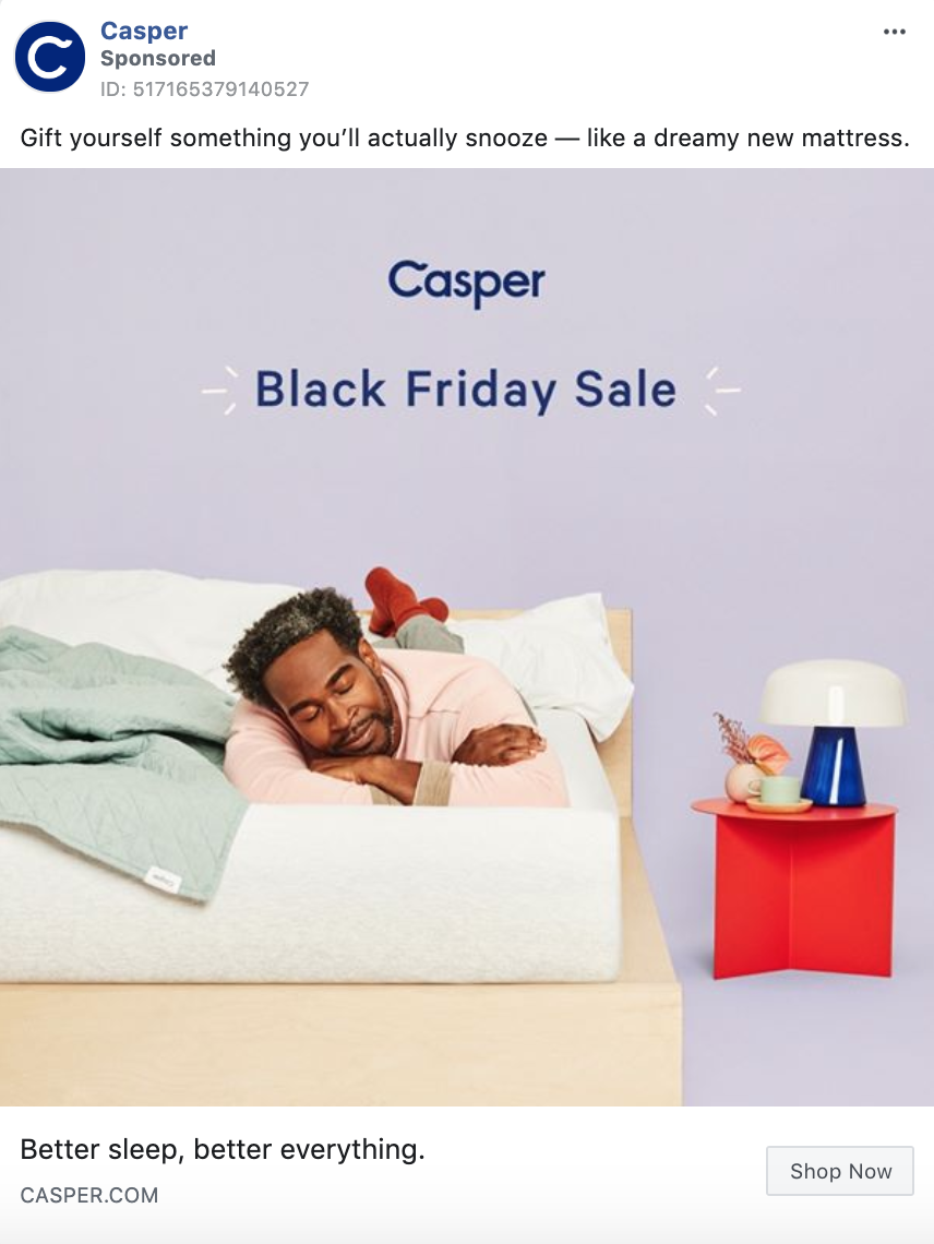 Casper Black Friday Static Image Ad
