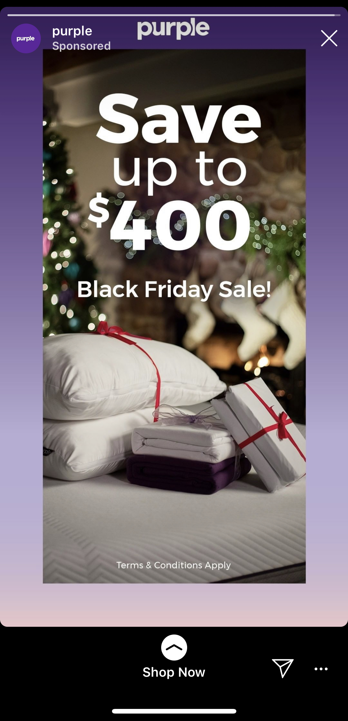 purple Black Friday Insta Ad