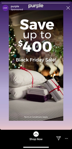 purple Black Friday Insta Ad