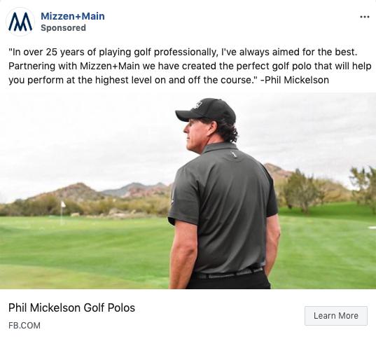 Mizzen+Main x Phil Mickelson