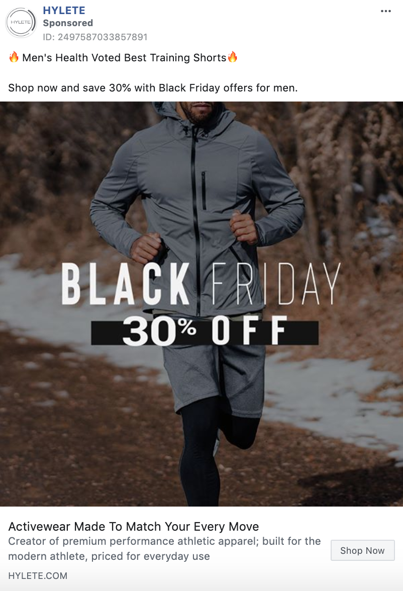 HYLETE Black Friday Static Image Ad