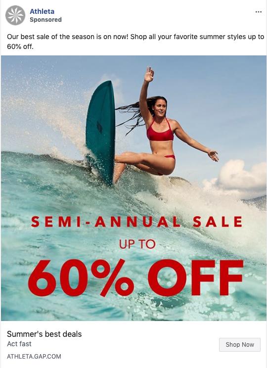 Athleta Surf Sale Ad