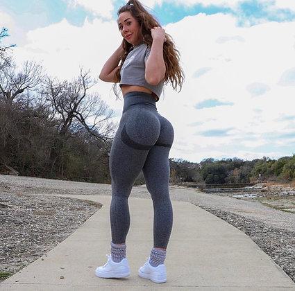 Grey scrunch push up leggings