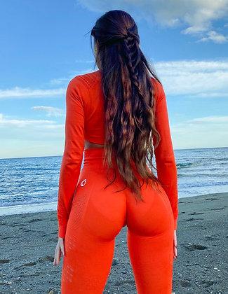 Holly orange seamless leggings
