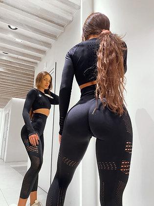 Holly black seamless leggings