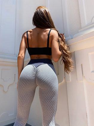 Bubble butt push up white-grey leggings