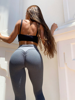 Bubble butt push up dark grey leggings